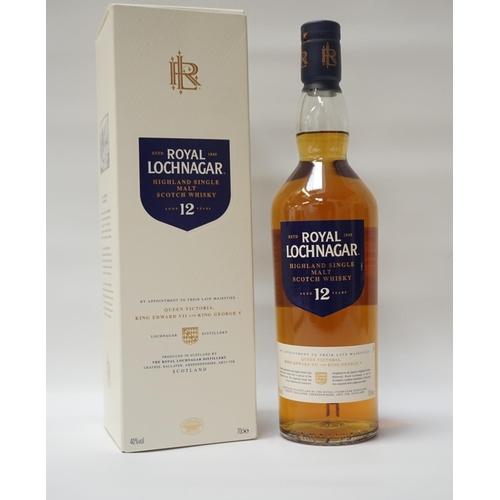 145 - ROYAL LOCHNAGAR 12YO A bottle of one of the few malts allowed to use the Royal epithet.  Royal Lochn...