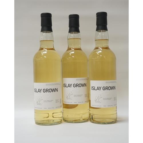 148 - BRUICHLADDICH FUTURES - ISLAY GROWN A trio of bottles of Bruichladdich Futures Islay Grown Single Ma...