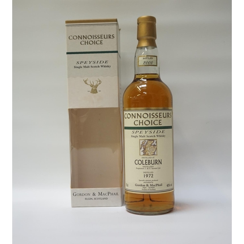15 - COLEBURN 1972 - CONNOISSEURS CHOICE A great example of the Whisky produced at the now silent Colebur...
