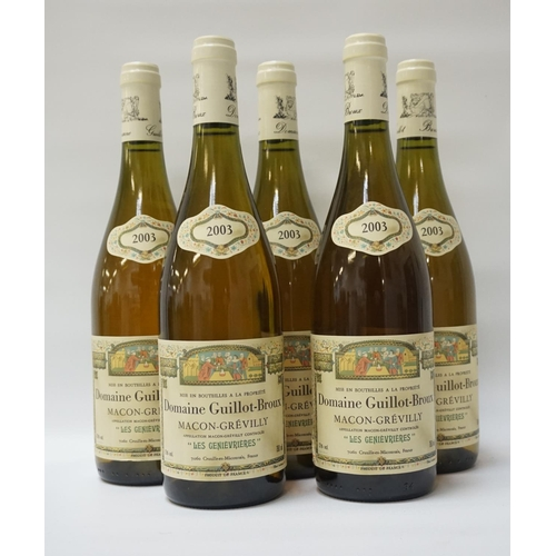 153 - DOMAINE GUILLOT-BROUX MACON-GREVILLY 2003 Six bottles of Domaine Guillot-Broux
