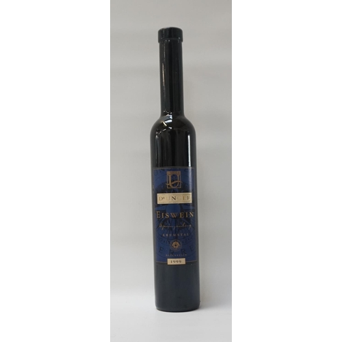156 - DR UNGER EISWEIN KREMSTAL 1999 VINTAGE A bottle of the difficult to produce Eiswein.  Dr Unger Neubu...