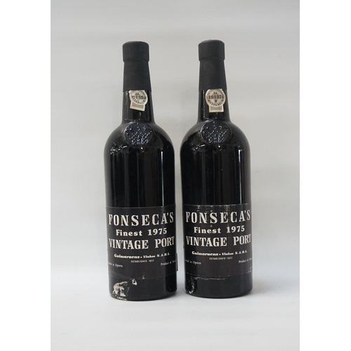 163 - FONSECA FINEST 1975 VINTAGE PORT Two bottles of Fonseca 1975 Vintage Port from one of the best known...