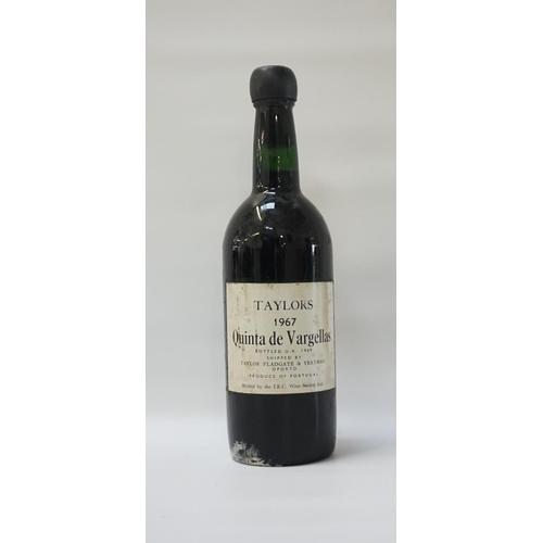 164 - TAYLORS QUINTA DE VARGELLAS 1967 VINTAGE PORT A rare and excellent bottle of the Taylors Quinta de V...