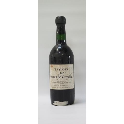 165 - TAYLORS QUINTA DE VARGELLAS 1967 VINTAGE PORT A rare and excellent bottle of the Taylors Quinta de V...