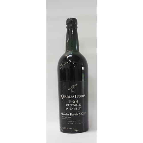 166 - QUARLES HARRIS 1958 VINTAGE PORT A rare and unusual bottle of Vintage Port.  Quarles Harris 1958 Vin...