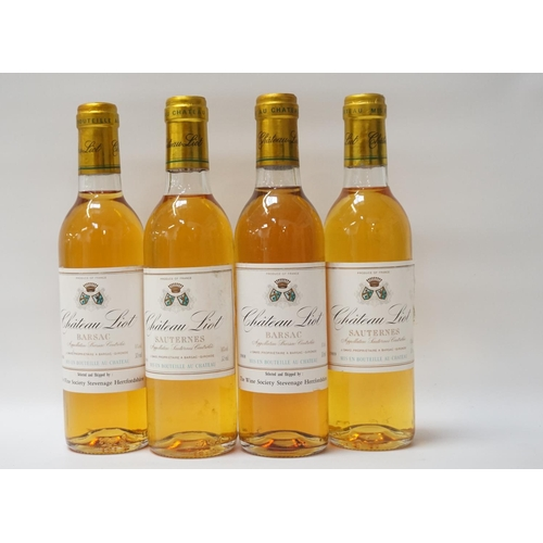 169 - FOUR BOTTLES OF CHATEAU LIOT BARSAC Two vintages of dessert wine selected and shipped by The Wine So...