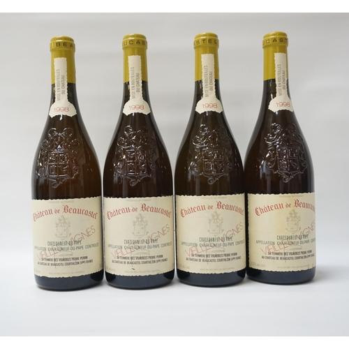 178 - CHATEAU DE BEAUCASTEL CHATEAUNEUF-DU-PAPE VIEILLES VIGNES 1998 Four fantastic bottles of Chateau de ...