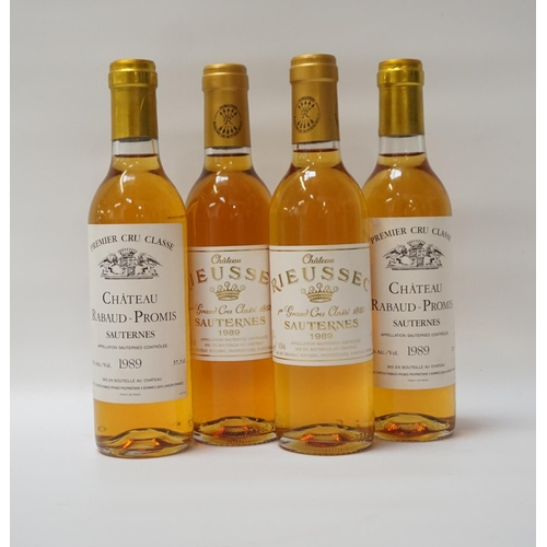 179 - FOUR BOTTLES OF 1989 VINTAGE SAUTERNES Four Vintage 1989 Vintage bottles of Sauternes Dessert Wine f...
