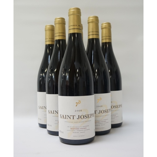 180 - BERNARD FAURIE SAINT JOSEPH 2009 A case of six bottles Saint Joseph 2009 Vintage from Rhone producer...