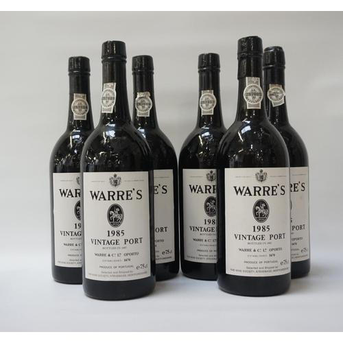 181 - WARRE'S 1985 VINTAGE PORT Six bottles of Warre's 1985 Vintage Port.  75cl.  No strength statement.  ...