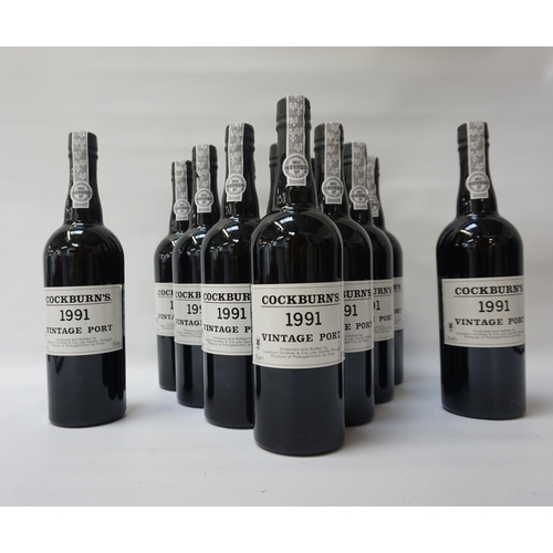 194 - COCKBURNS 1991 VINTAGE PORT A case of 12 bottles of Cockburns 1991 Vintage Port.  75cl.  20% abv.  A...