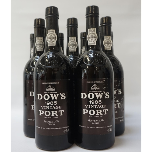 198 - DOW'S 1985 VINTAGE PORT A case of twelve bottles from Dow's 1985 Vintage Port.  75cl.  No strength s...