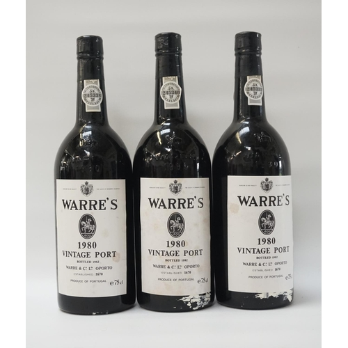 200 - WARRE'S 1980 VINTAGE PORT A trio of bottles of Warre's 1980 Vintage Port from an mostly unsung but e...