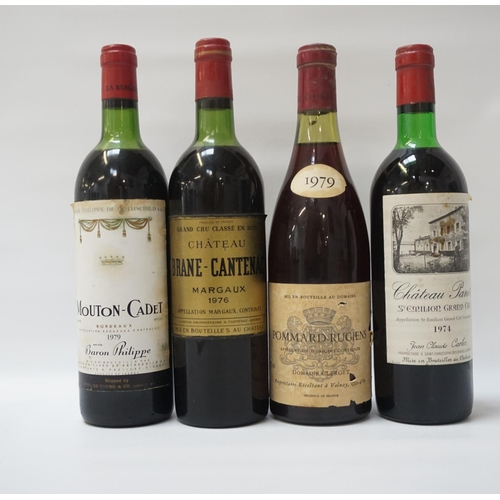 201 - FOUR BOTTLES OF CLASSIC FRENCH RED WINE A selection of four bottles of Classic Vintage red wine, com...