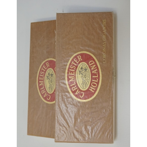 215 - TWO SEALED BOXES OF CARLMEISTER CORONAS GIGANTES Two boxes of cigars sealed in waxed paper.  No indi...