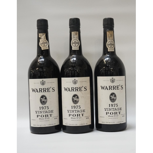 4 - WARRE'S 1975 VINTAGE PORT Three bottles of Vintage Port from Warre & Co, Oporto.  Warre's 1975 Vinta...