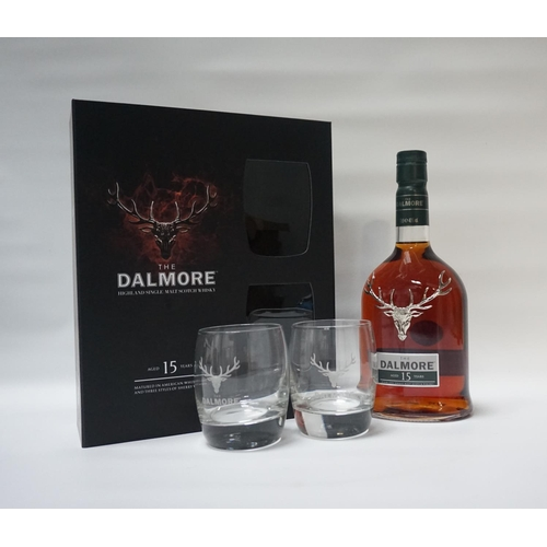 60 - THE DALMORE 15YO GIFT SET A nicely presented bottle of the Dalmore 15 Year Old Single Malt Scotch Wh...