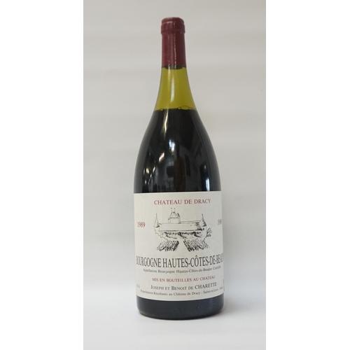 61 - CHATEAU DE DRACY 1989 BOURGOGNE HAUTES-COTES-DE-BEAUNE A large bottle of Chateau de Dracy 1989 Bourg...