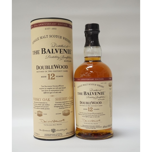 68 - THE BALVENIE 12YO DOUBLEWOOD 25TH ANNIVERSARY EDITION Bottled to celebrate the 25th Anniversary of t...
