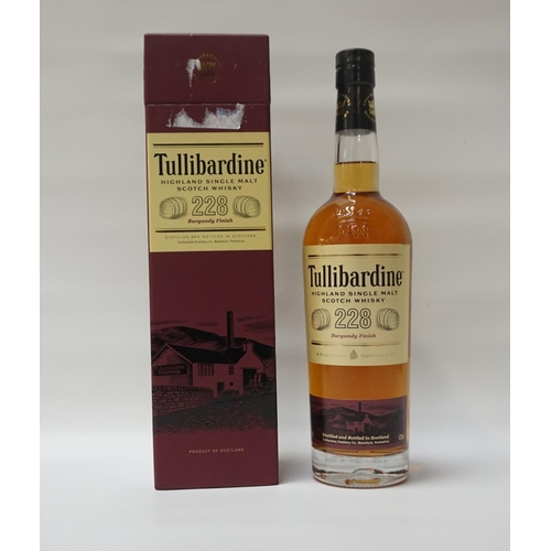 71 - TULLIBARDINE 228 BURGUNDY FINISH A bottle of the Tullibardine 228 Burgundy Finish Single Malt Scotch...