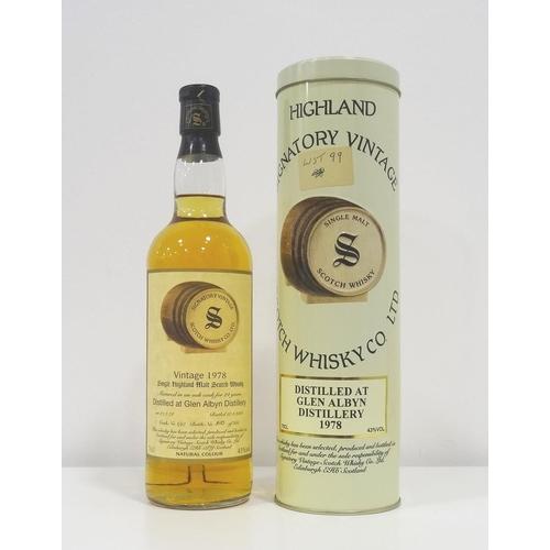 52 - GLEN ALBYN 1978 SIGNATORY One of the defunct silent distilleries in Inverness, Glen Albyn finally cl...