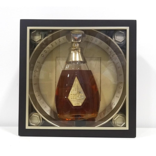 72 - JOHN WALKER & SONS ODYSSEY The Ultra Premium bottling of Johnnie Walker is presented in a case with ...