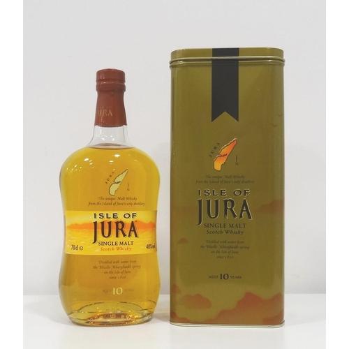 74 - ISLE OF JURA 10YO A well presented bottle from the Isle of Jura Distillery.  10 Year Old Single Malt...