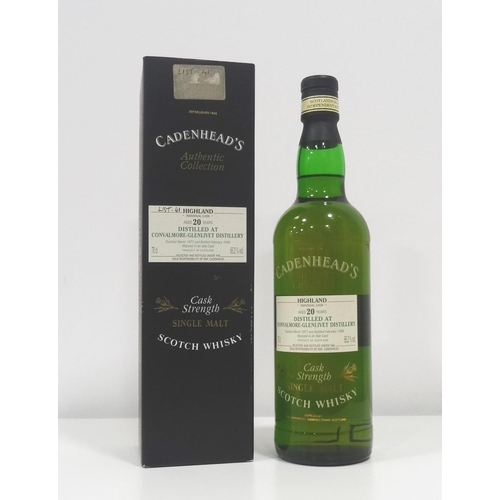 75 - CONVALMORE-GLENLIVET 20YO CADENHEAD'S  Another rare bottle of whisky from a Silent Distillery by Cad...