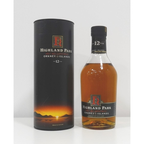 87 - HIGHLAND PARK 12YO A nice older presentation of the Highland Park 12 Year Old Single Malt Scotch Whi...