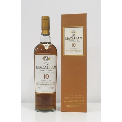 89 - MACALLAN 10YO A bottle of single malt from the most famous Distillery in the world, The Macallan 10 ...