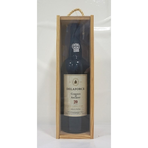 95 - DELAFORCE CURIOUS & ANCIENT 20YO TAWNY PORT Well presented bottle of the Delaforce Curious & Ancient...