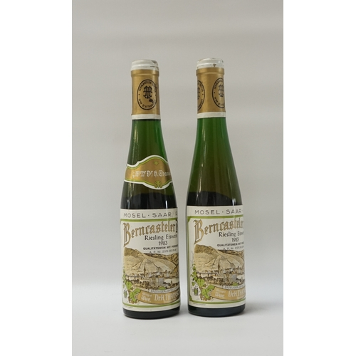155 - BERNCASTELER DOCTOR RIESLING EISWEIN 1983 VINTAGE Eiswein is produced by leaving the grapes on the v...