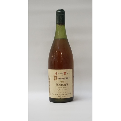 172 - MEURSAULT GRAND VIN DE BOURGOGNE 1945 A bottle selected for the The Wine Society.  Meursault 1945 Vi...