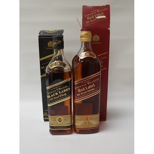 86 - TWO BOTTLES OF JOHNNIE WALKER  A pair of bottles of Johnnie Walker Blended Scotch Whisky, comprising...