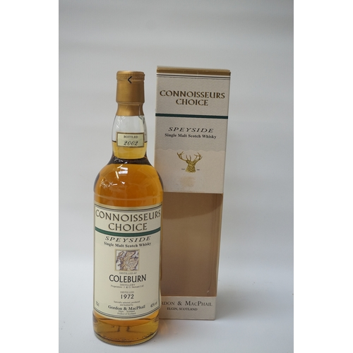 21 - COLEBURN 1972 CONNOISSEURS CHOICE Coleburn Distillery although silent is now the home of independent...