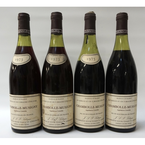 83 - CHAMBOLLE-MUSIGNY 1973  Four bottles of JLP Lebegue Chambolle-Musigny vintage 1973.  No strength or ...