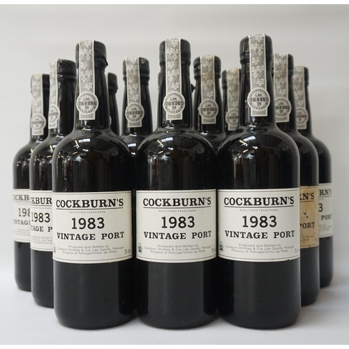 187 - COCKBURNS 1983 VINTAGE PORT A full case of twelve bottles of the exquisite Cockburns 1983 Vintage Po...