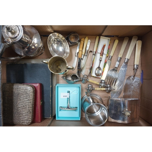 193 - SELECTION OF SILVER PLATED ITEMS including a Broomhill Golf Club trophy dated 1924-25; a shaped tea ...