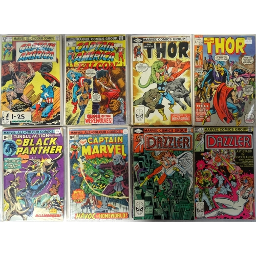 379 - MARVEL COMICS - CAPTAIN AMERICA, THE MIGHTY THOR, THE BLACK PANTHER, THE NEW CAPTAIN MARVEL AND DAZZ...