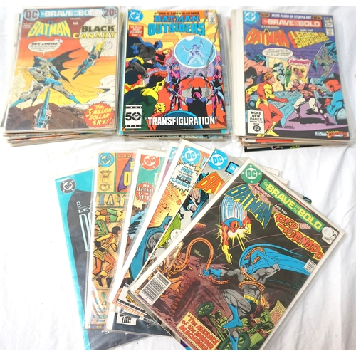 380 - SELECTION OF DC BATMAN COMICS dates ranging from 1970s - 80s; comprising twenty-five of The Brave an...
