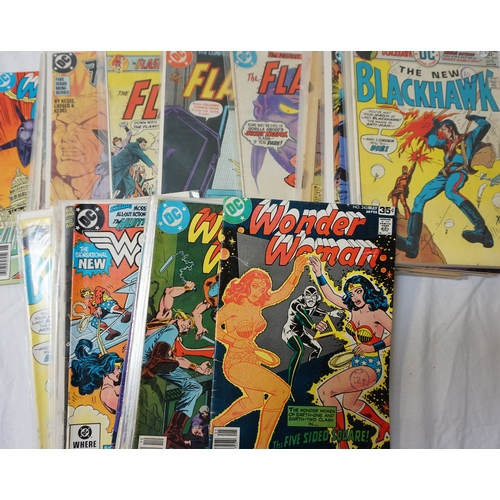 381 - DC COMICS - WONDER WOMAN, THE NEW BLACKHAWK, THE HAWK AND THE DOVE, AND THE FLASH dates ranging from...