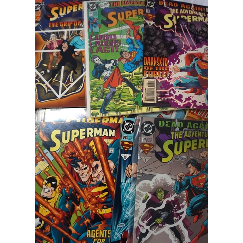 382 - SELECTION OF DC SUPERMAN AND SUPERBOY COMICS dates ranging from 1970s - 90s; comprising two DC Comin...