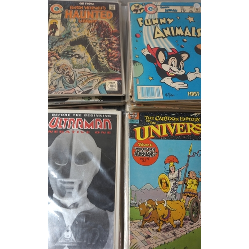 384 - LARGE SELECTION OF COMICS DATING FROM 1950s - 1990s publishers include Gold Key, Atlas comics, Charl...