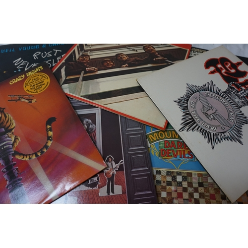 371 - SELECTION OF AMERICANA, PROG ROCK, POP, ROCK AND METAL LP RECORDS including The Ozark Mountain Dared...