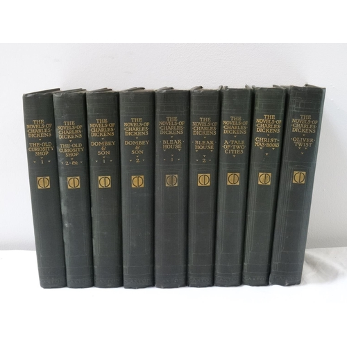 374 - THE NOVELS OF CHARLES DICKENS printed by Ballantyne, Hanson & Co of Edinburgh, including The Old Cur...