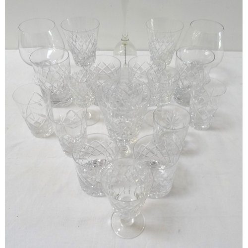 192 - LARGE SELECTION OF CRYSTAL AND OTHER GLASSWARE including whisky tumblers, brandy balloons, white and...