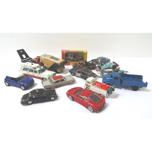 415 - LARGE SELECTION OF DIE CAST VEHICLES with examples from Matchbox, Corgi, Dinky, Marshall, Lone Star ...
