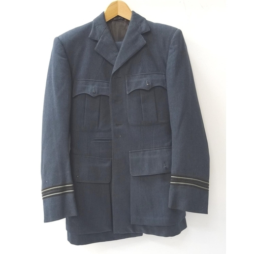 397 - RAF SERGEANTS JACKET with stripes to both arms and a pair of matching trousers - RE-OFFERED IN TIMED...