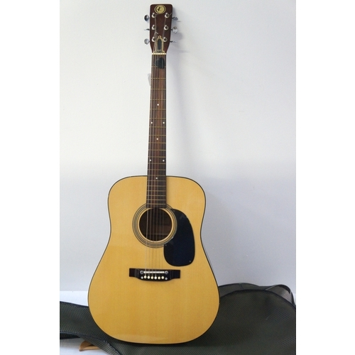365 - ACOUSTIC GUITAR model KD 28, with a soft case...