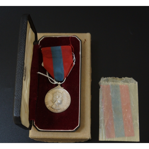 434 - IMPERIAL SERVICE MEDAL with ribbon and a spare ribbon, named to James Calross, boxed - RE-OFFERED IN...